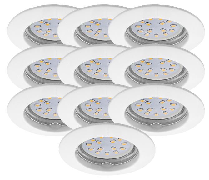 LED Einbauleuchten Set 10er