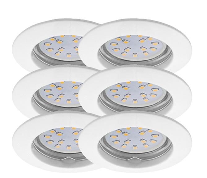 LED Einbauleuchten Set 6er
