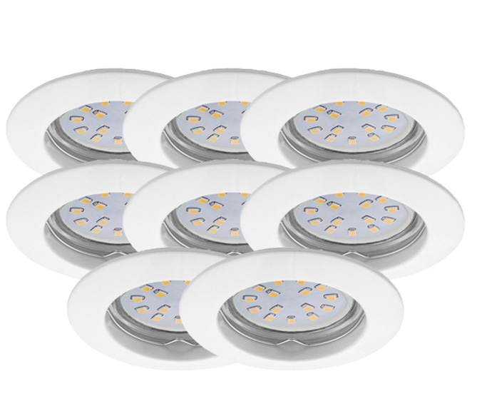 LED Einbauleuchten Set 8er