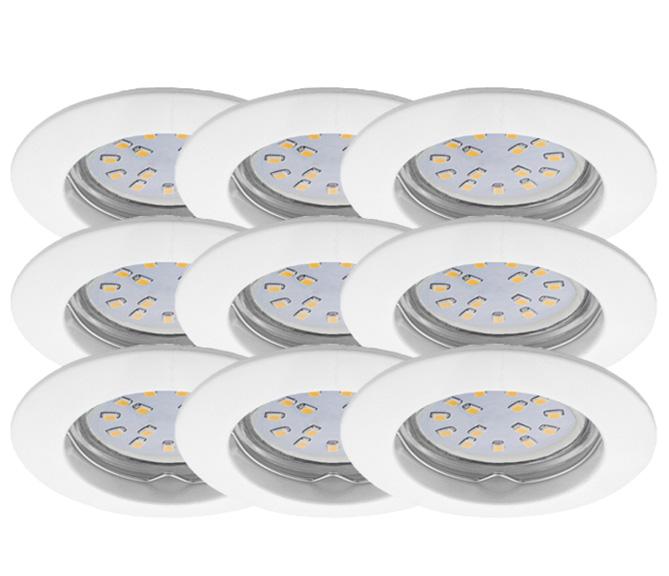 LED Einbauleuchten Set 9er